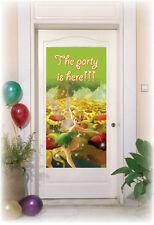 Tinkerbell Birthday Party Green Plastic Door Banner. Dimensions 76x152cm - Girls