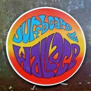 BILL WALLACE SURFBOARDS Sticker / Decal 1960's Australian surfing