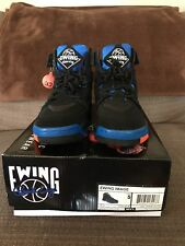 Patrick EWING Image VENT Shoes Mens Size 5 Basketball Sneakers Black Blue Orange