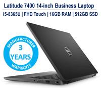 Dell Latitude 7400 Laptop i5-8365U Thunderbolt FHD Touch 16GB 512GB 3YR Warranty