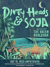 DIRTY HEADS / SOJA 2017 CONCERT TOUR POSTER FOR PHOENIX OR PHILADELPHIA