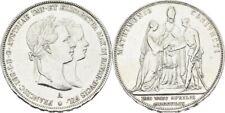 Doppelgulden Hochzeit 1854 Österreich Ungarn Wien Franz Joseph #Alb.3317