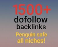 1500+ dofollow backlinks |penguin safe| high quality | SEO | Website | all niche