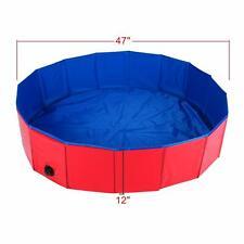 """Foldable Dog Pet Bath Pool Cats Bathing Tub Bathtub Wash Tub Water Pond Pool 47"""""""