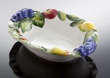 Bassano italienische Keramik Obstschale Früchte Ananas Trauben Reliefen 33x25