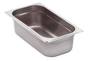Gastronomie GN Behälter 1/4 Gastronorm behälter alle Tiefen 20 - 200mm Edelstahl