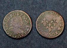 Double Tournois 1619 G (Poitiers) Louis XIII°. Cuivre