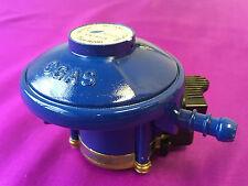 LPG 20 mm Butane Gas 28 mbar Clip On Blue Low Pressure Regulator