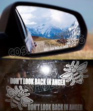 Manchester Bee Wing Mirror Frosted Glass Dont Look Back In Anger sticker x2 car