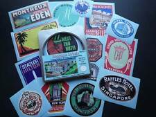 Vintage Style Travel Suitcase Luggage Labels Set Of 15 Stickers In Gift Tin