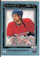 Guillaume Latendresse  4-RC Lot  06/07 BAP Be A Player  #231  Autograph SP + 3