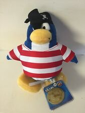Disney Club Penguin Series 2 Shipmate Pirate Plush BRAND NEW & RARE!