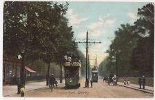 London Road, Derby Trams Postcard, B652