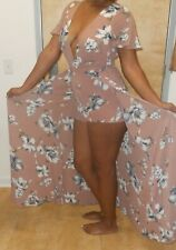 NEW-SEXY-WINDSOR-AFRICAN-PARTY-DRESS-ROSE-PINK-WHITE-BLUE-SHORTS-LOW-CUT-TOP-L
