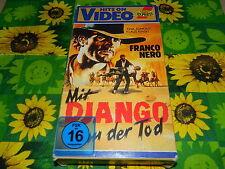 Mit Django kam der Tod - Klaus Kinski - Franco Nero -  Ariola Pappbox - VHS