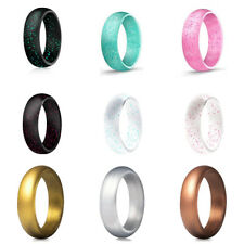 Men's/Women's Silicone Wedding Band Engagement Ring Hypoallergenic Jewelry HOT
