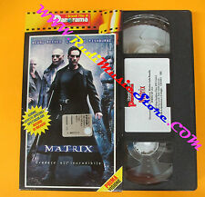 VHS film MATRIX Keanu Reeves Laurence Fishburne GRANDI PANORAMA (F75*) no dvd
