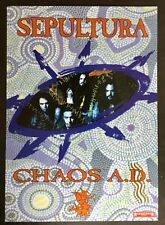 AFFICHE SEPULTURA CHAOS AD ROADRUNNER  RECORDS