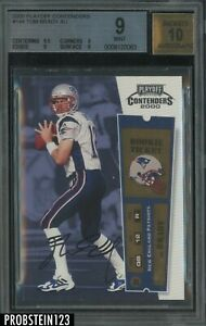 2000 Playoff Contenders ROOKIE TICKET Tom Brady Patriots RC BGS 9 w/ 10 AUTO