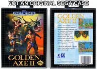 Golden Axe II - Sega Genesis Custom Case *NO GAME*