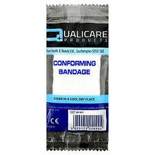 Qualicare Taille Moyenne compresse conforme Blessure Support Bandage, 1 x 7.5 cm x 4 m