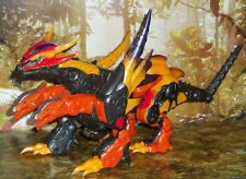 TRANSFORMERS CYBERTRON SCOURGE ORANGE RED DRAGON FIGURE WITH silver planet key