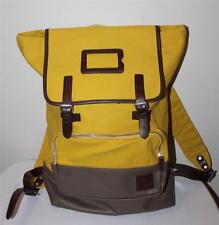 AUTH Fred Perry Men's Cotton Rucksack Yellow Backpack Bag