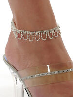 Crystal Rhinestone Charms Chain Metal Anklet Ankle Bracelet