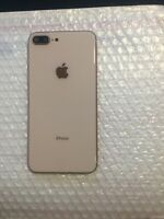 OEM Original Apple Iphone 8 Plus Rear Glass Housing Good Condition Rose Gold
