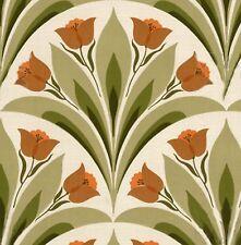 Danish Mid Century Original Designed Tuliip Wallpaper 1960s 50s VARIOUS COLORS