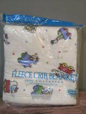 New listing Vintage Owen Fleece Baby Crib Blanket - New In Package