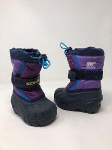 SOREL Storm Racer Kids Toddler Purple Blue Winter Snow Rain Boots Shoes Size 5
