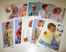 Lot of 10 Sirdar DK knitting yarn patterns for Babies and Children Premie - 8 yr