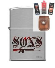 Zippo 7493 Sons of Anarchy Lighter + FUEL FLINT WICK POUCH GIFT SET