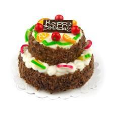 miniatura grande fatta a mano due piani rotondo bianco torta glassata