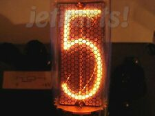 6 x IN-18 = IN18 = IN-18 NIXIE TUBES BRAND NEW! 100% TESTED EACH DIGIT! BEST!
