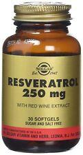 Solgar Resveratrol 250mg Softgels, 30