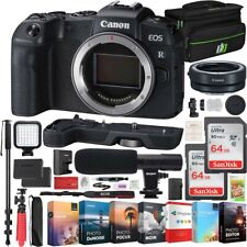 Canon EOS RP Mirrorless Camera 26.2MP Portable Full Frame Body Essential Bundle