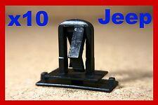 10 JEEP bumper fender bump scratch strip fascia panel moulding fastener clips