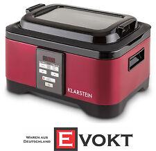 Klarstein 10028298 Tastemaker Sous-Vide Slow Cooker 6L 550W Steel Red Genuine
