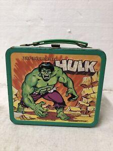 vintage 1978 The incredible hulk metal lunch box Marvel Comics