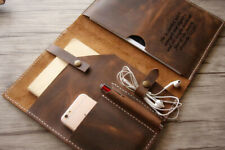 iPad Laptop Case Business Portfolio Leather Brown Folder Binder
