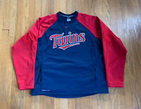 Minnesota Twins Nike On Field Therma-Fit Pullover Mens XL EUC Rare MLB