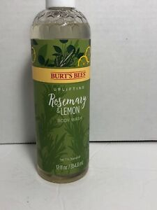 Rosemary and Lemon Body Wash by Burts Bees for Unisex - 12 oz Body Wash