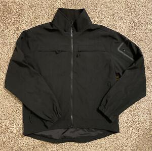 5.11 Tactical Series Men's Black Softshell Jacket Large L Full Zip