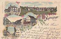 AK Nandlstadt, Holledau, Villa Tafelmaier, Markt; gel. 23.7.1898 nach Freising