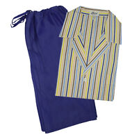Brioni Mens Multi Color Striped Shorts Pajamas