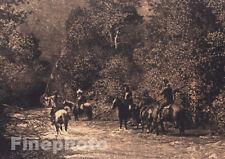 1900/72 Vintage NATIVE AMERICAN INDIAN Apsaroke Western Photo Art EDWARD CURTIS