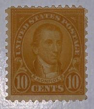 Travelstamps: 1926-1928 US STAMPS SC# 642, 10c MINT, OG, MOGLH Monroe 10 cents