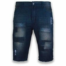 NEW Men Denim Jean Ripped Shorts Distressed Regular Fit Sizes 30-42 Patches